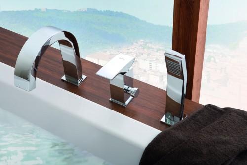 Stojące baterie wannowe – designerski element stylowej łazienki bateria_wannowa2